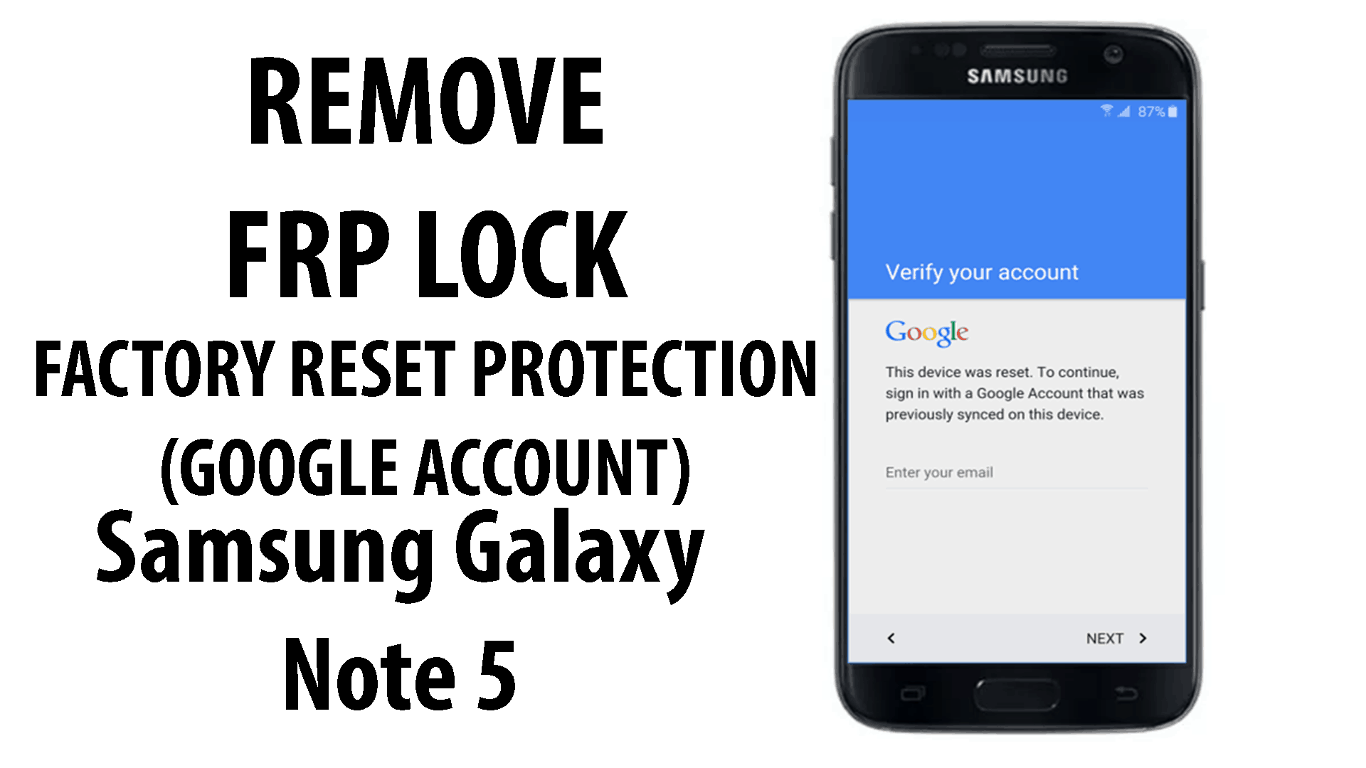 Bypass FRP Google Account Protection Samsung Galaxy Note 5 - AlbViral